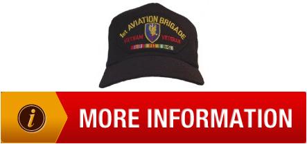 aec1ce78d9353 Root 1ST AVIATION BRIGADE VIETNAM VETERAN W CAMPAIGN RIBBON EMBLEM Ball Cap   Hat